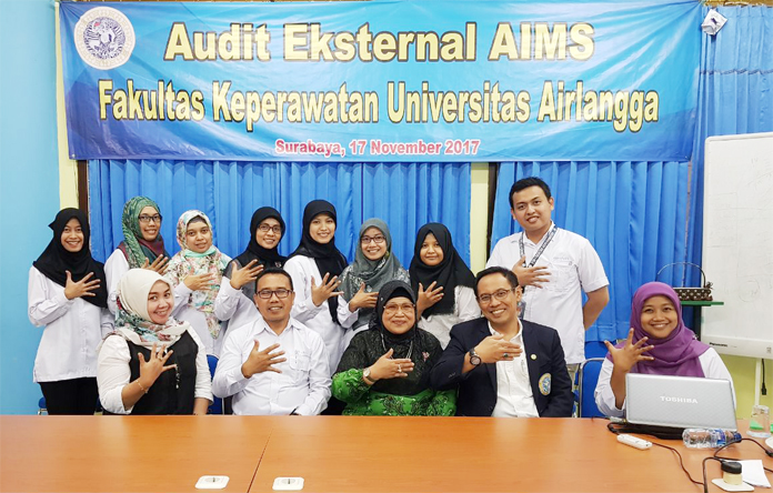 Audit Eksternal AIMS Fakultas Keperawatan UNAIR 2017
